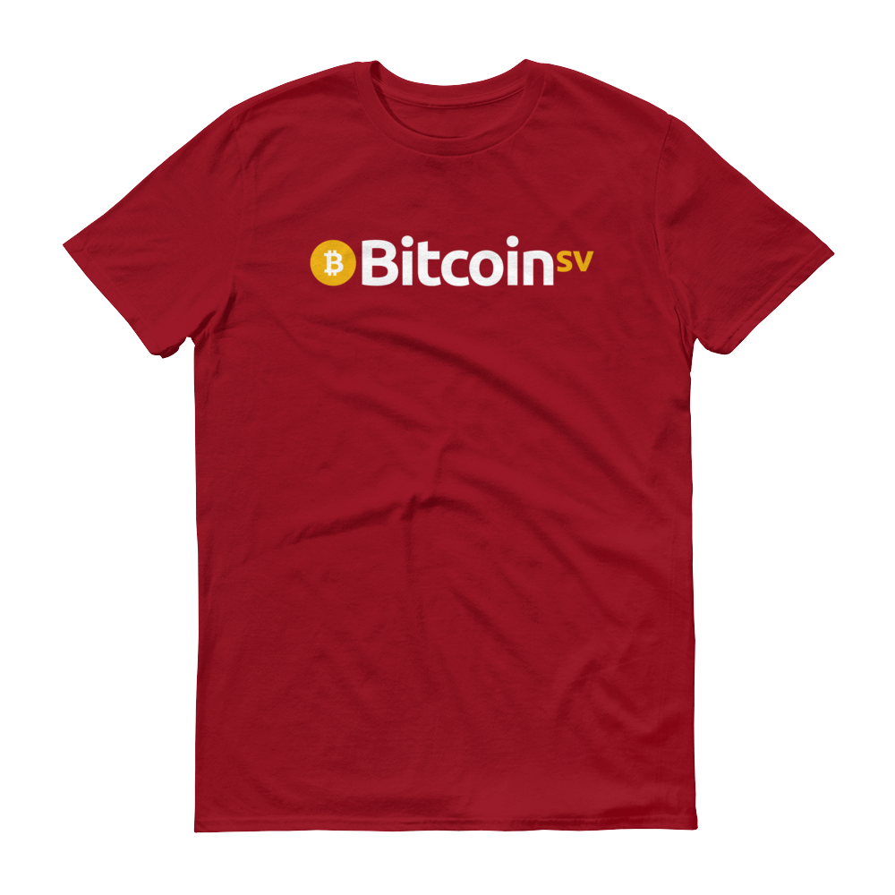 Bitcoin SV Short-Sleeve T-Shirt Independence Red S - zeroconfs