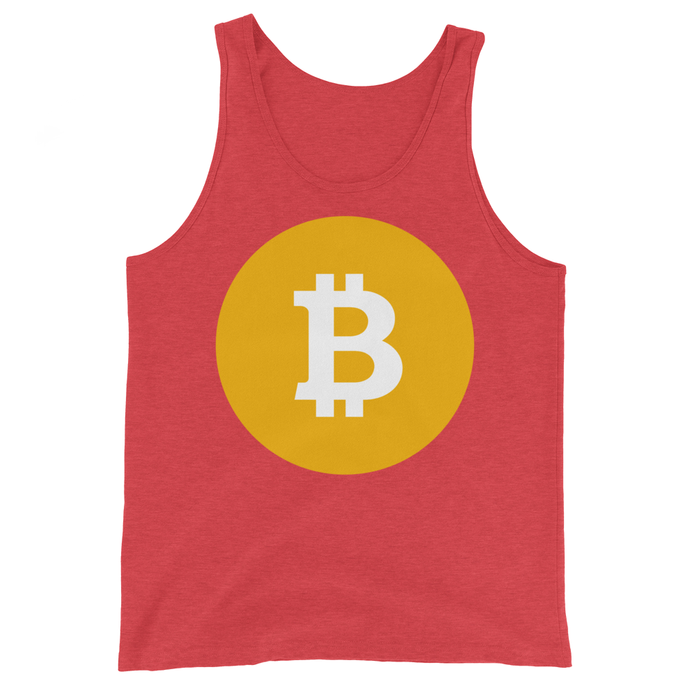 Bitcoin SV Logo Tank Top Red Triblend XS - zeroconfs