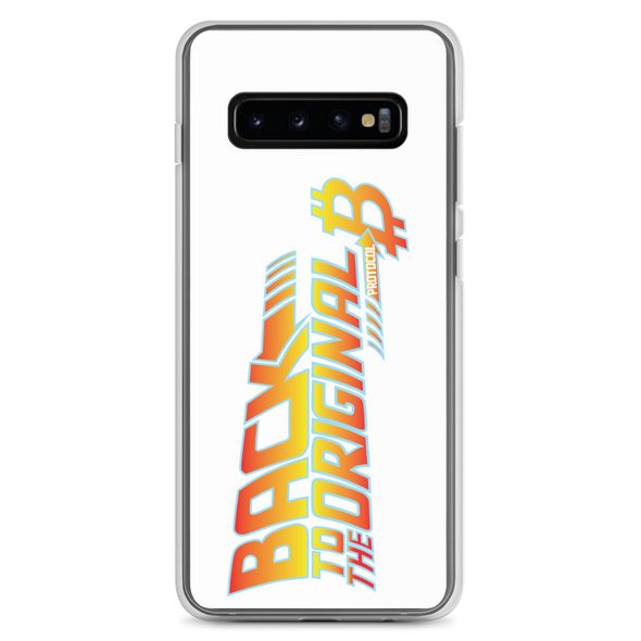 Back To The Original Bitcoin Protocol Samsung Case White Samsung Galaxy S10+  - zeroconfs