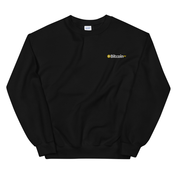 Bitcoin SV Embroidered Women's Sweatshirt Black S - zeroconfs