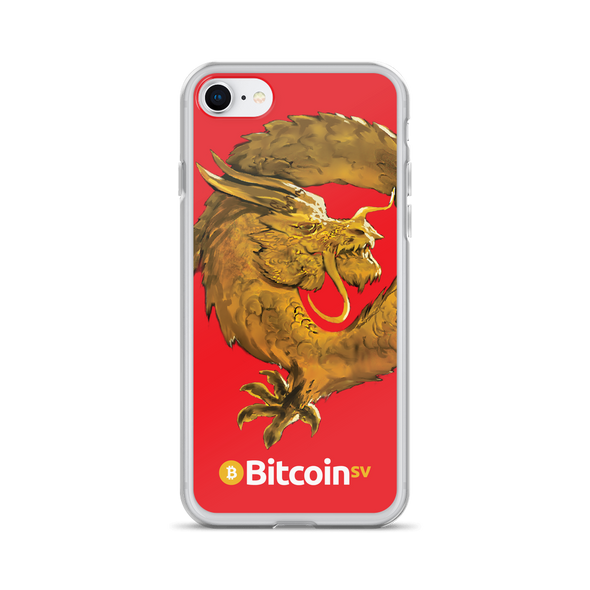 Bitcoin SV Woken Dragon iPhone Case Red iPhone 7/8  - zeroconfs