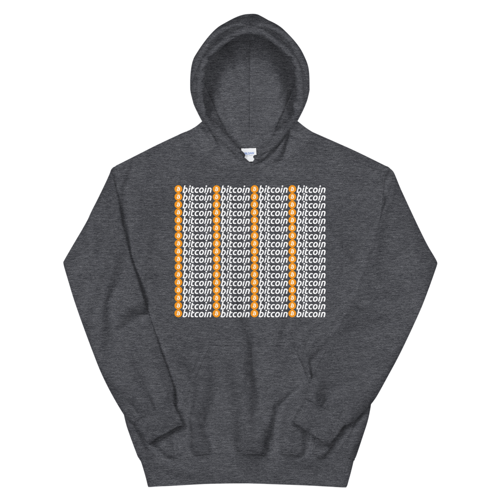 Bitcoins Hooded Sweatshirt Dark Heather S - zeroconfs