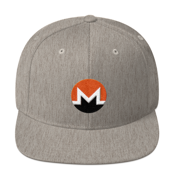 Monero Snapback Hat Heather Grey  - zeroconfs