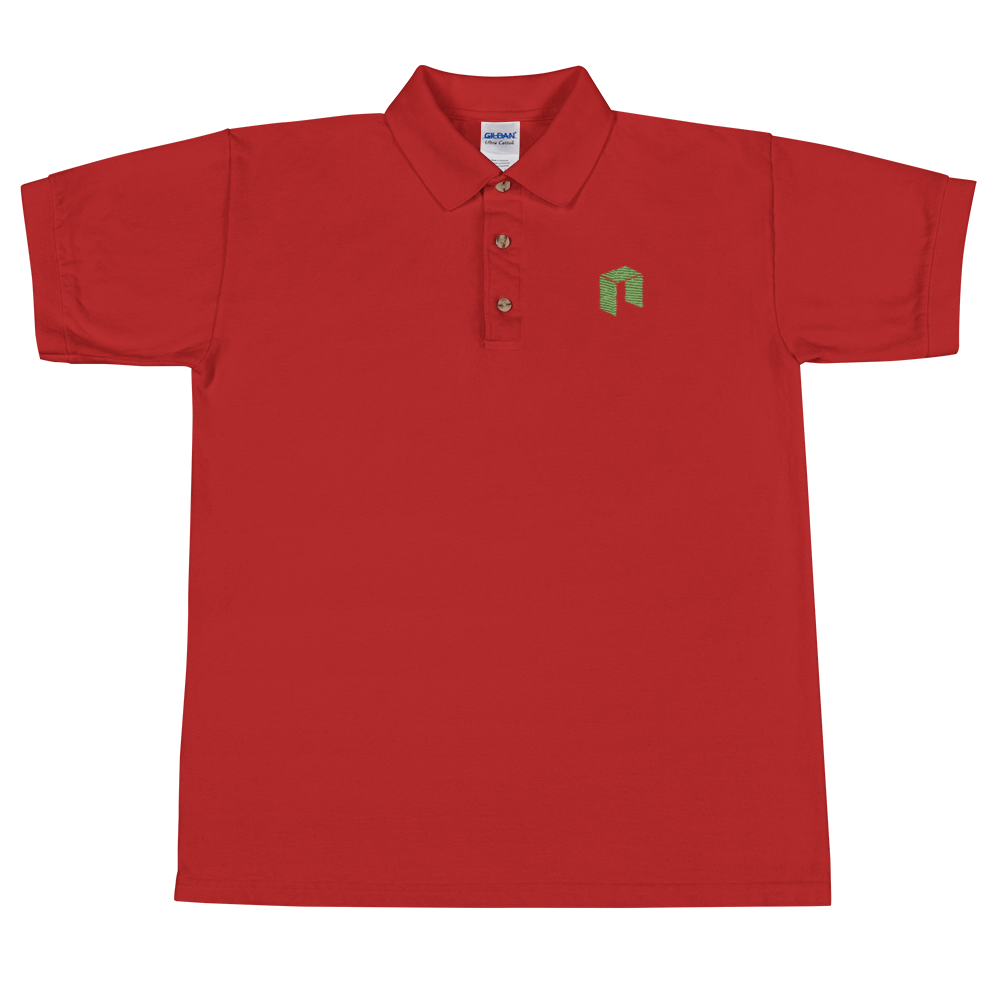NEO Embroidered Polo Shirt Red S - zeroconfs