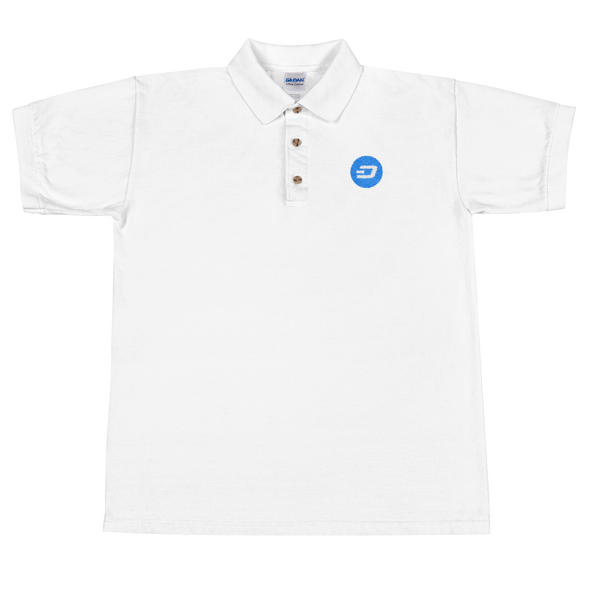 Dash Embroidered Polo Shirt White S - zeroconfs