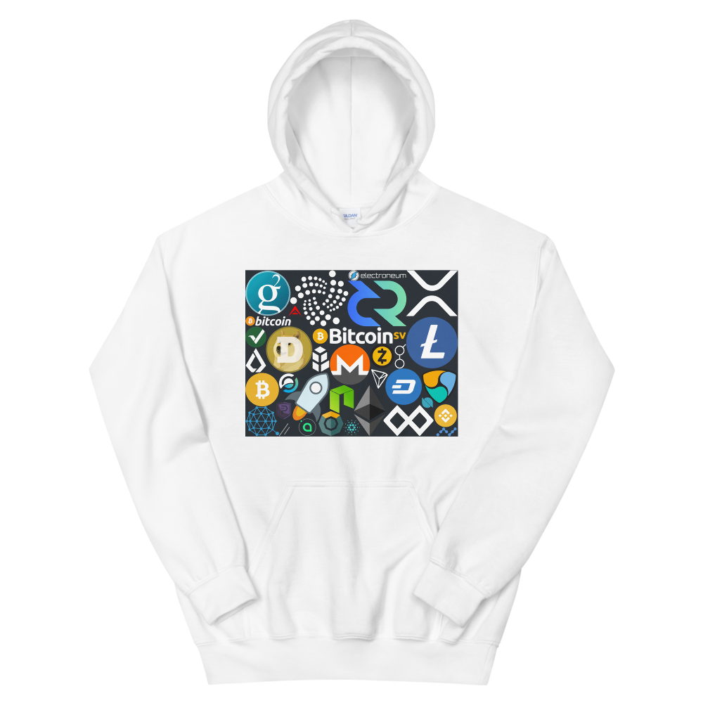 Crypto Calling Hooded Sweatshirt White S - zeroconfs