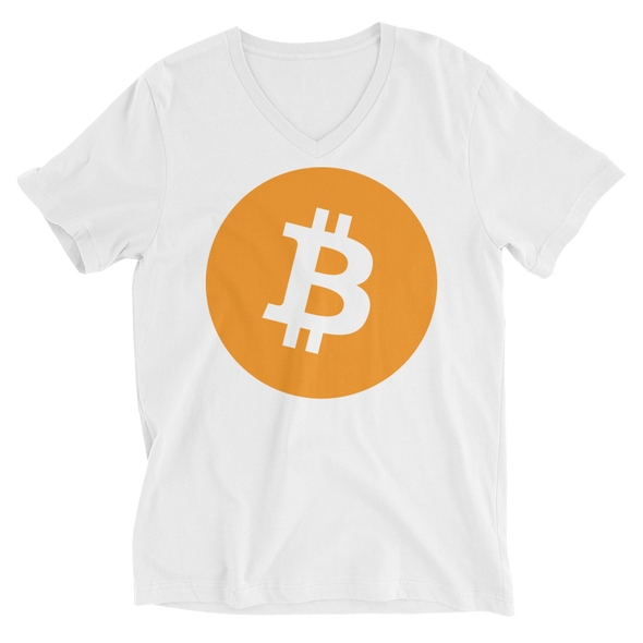 Bitcoin Core V-Neck T-Shirt White S - zeroconfs