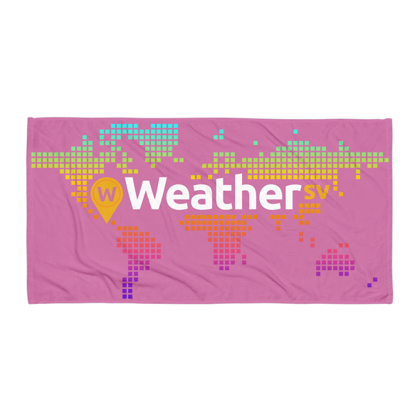 Weather SV Beach Towel Pink Default Title  - zeroconfs