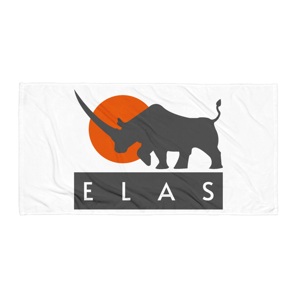 ELAS Digital Beach Towel White Default Title  - zeroconfs