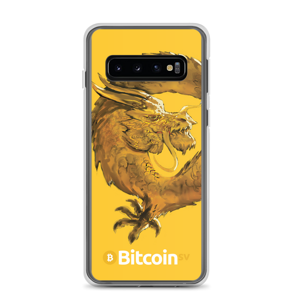 Bitcoin SV Woken Dragon Samsung Case Yellow Samsung Galaxy S10  - zeroconfs
