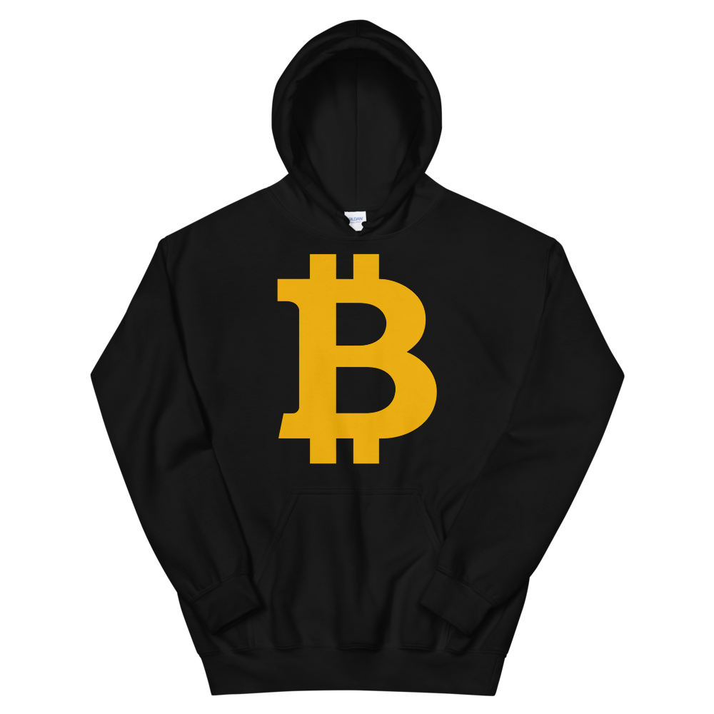 Bitcoin B Women's Hooded Sweatshirt Black S - zeroconfs