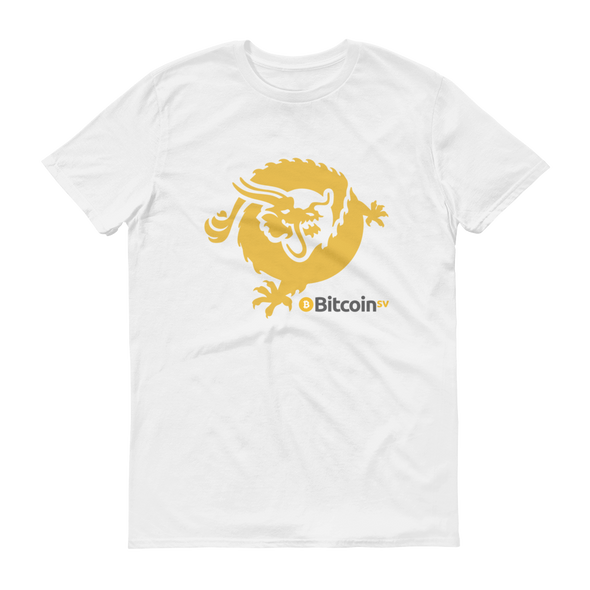 Bitcoin SV Dragon Short-Sleeve T-Shirt White S - zeroconfs