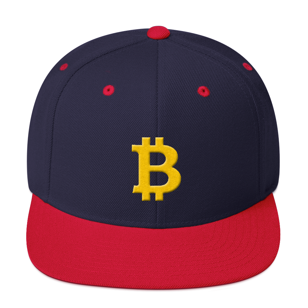 Bitcoin B Snapback Hat Navy/ Red  - zeroconfs