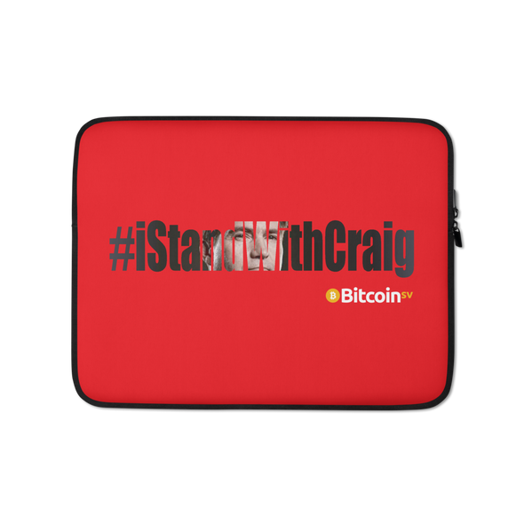 #IStandWithCraig Bitcoin SV Laptop Sleeve Red 13 in  - zeroconfs