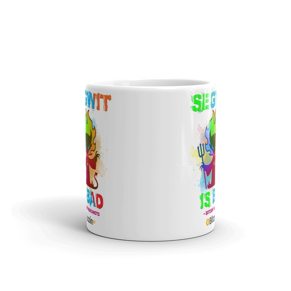 SegWit Is Bad Bitcoin SV Coffee Mug   - zeroconfs