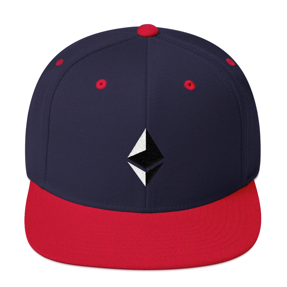 Ethereum Snapback Hat Navy/ Red  - zeroconfs