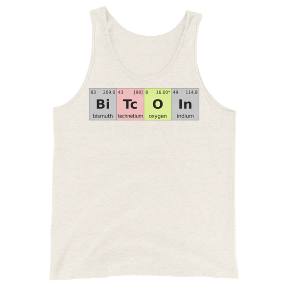 Bitcoin Periodic Table Tank Top Oatmeal Triblend XS - zeroconfs