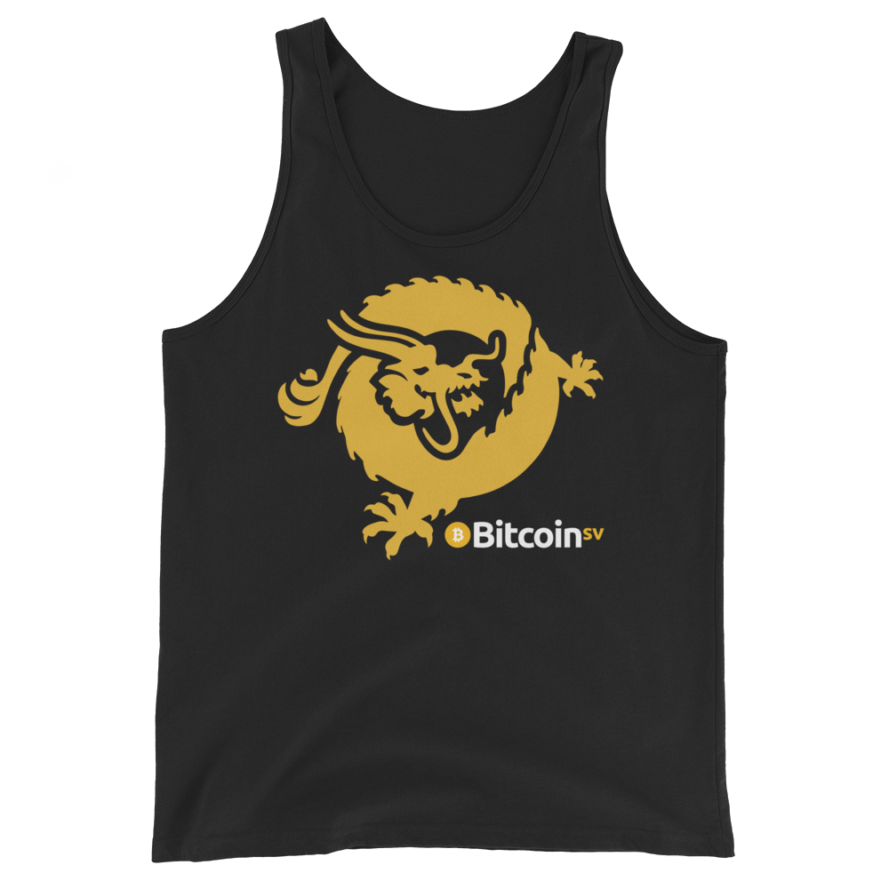 Bitcoin SV Dragon Tank Top Black XS - zeroconfs