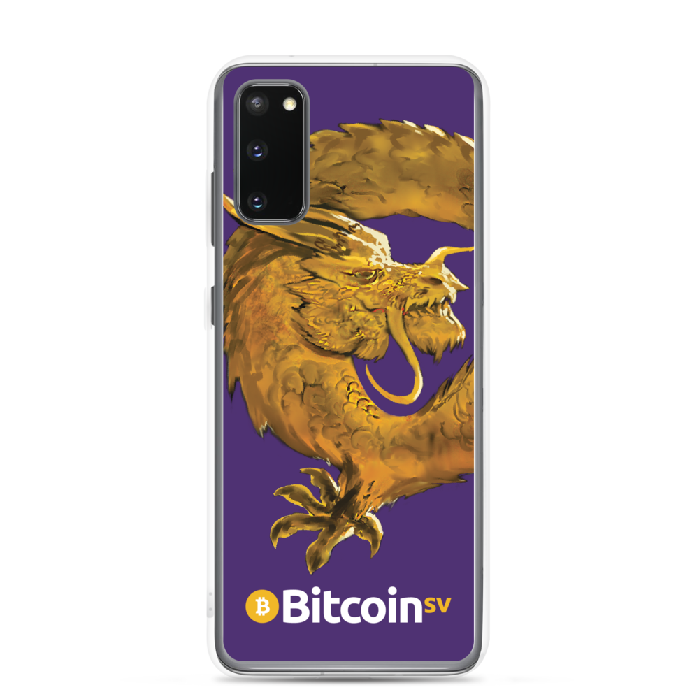 Bitcoin SV Woken Dragon Samsung Case Purple Samsung Galaxy S20  - zeroconfs
