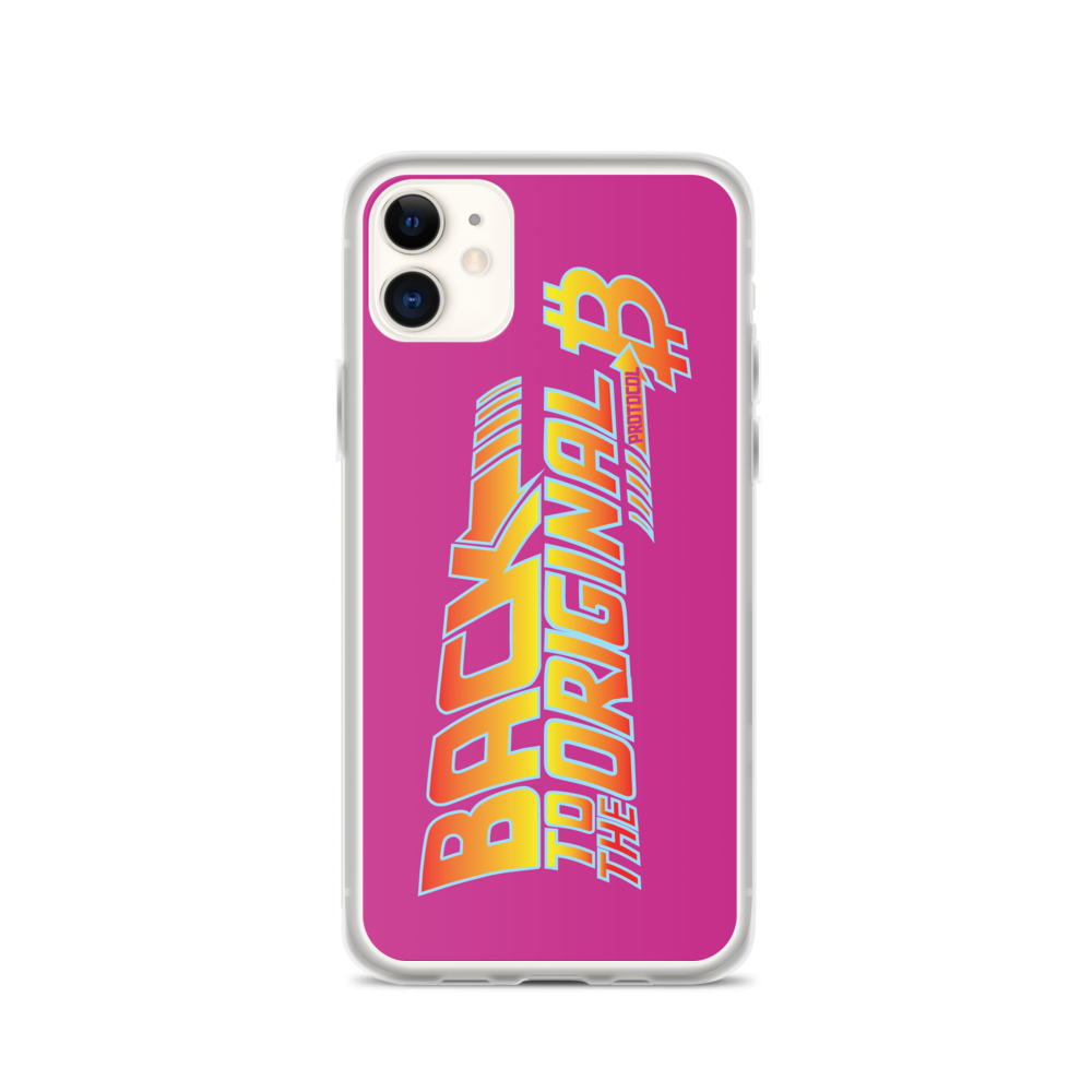 Back To The Original Bitcoin Protocol iPhone Case Pink iPhone 11  - zeroconfs