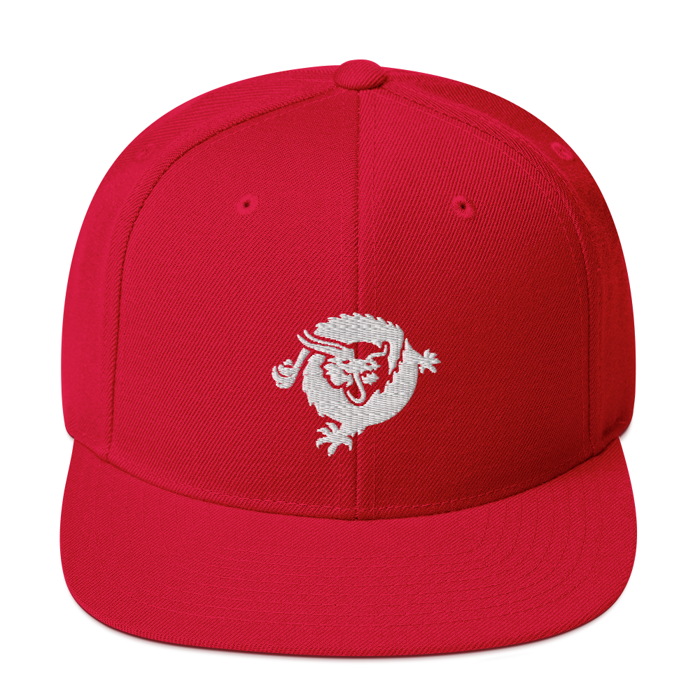 Bitcoin SV Dragon Snapback Hat White Red  - zeroconfs