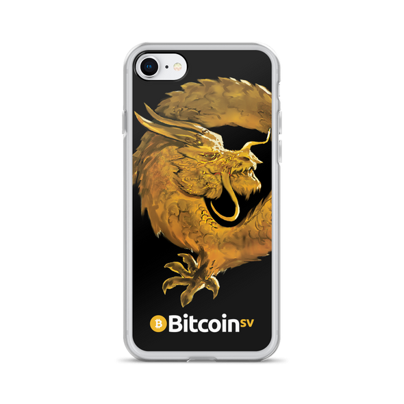 Bitcoin SV Woken Dragon iPhone Case Black iPhone 7/8  - zeroconfs