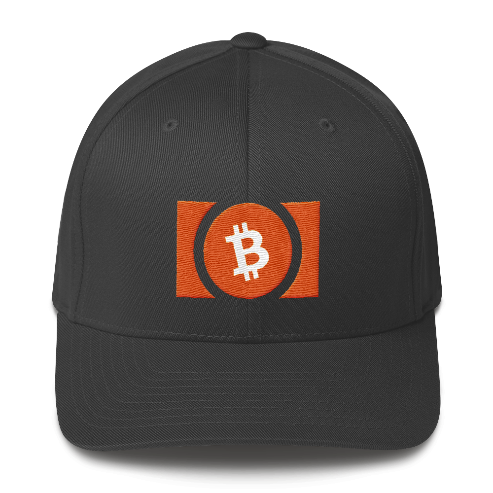 Bitcoin Cash Flexfit Cap Dark Grey S/M - zeroconfs