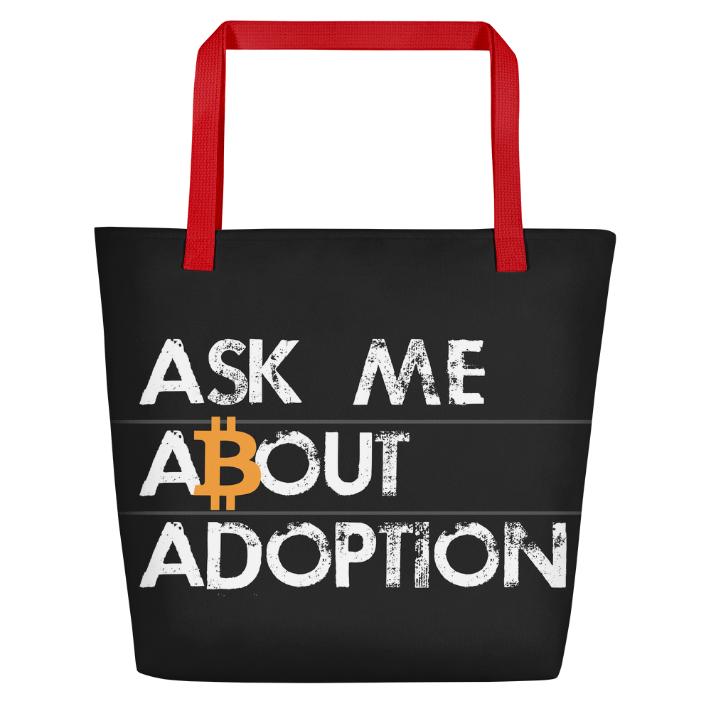 Ask Me About Adoption Bitcoin Beach Bag   - zeroconfs