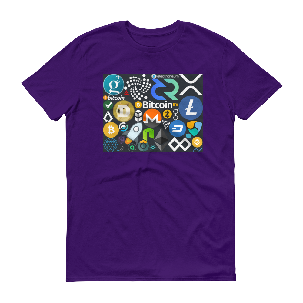 Crypto Calling Short-Sleeve T-Shirt Purple S - zeroconfs