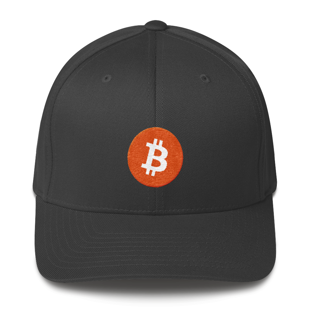 Bitcoin Core Flexfit Cap Dark Grey S/M - zeroconfs