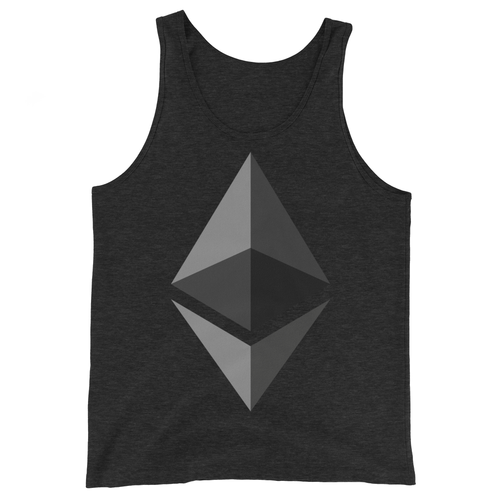 Ethereum Tank Top Charcoal-Black Triblend XS - zeroconfs