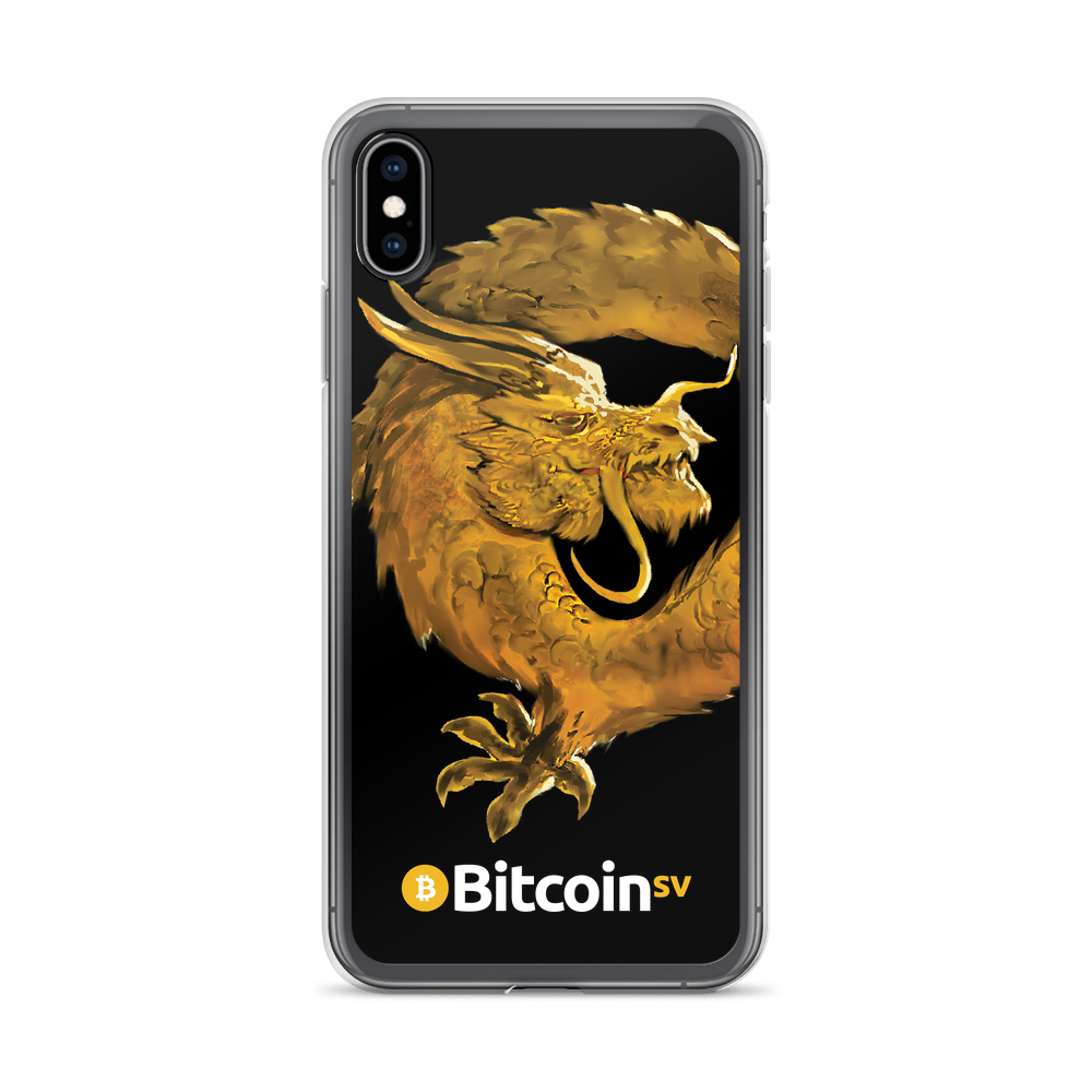 Bitcoin SV Woken Dragon iPhone Case Black iPhone XS Max  - zeroconfs