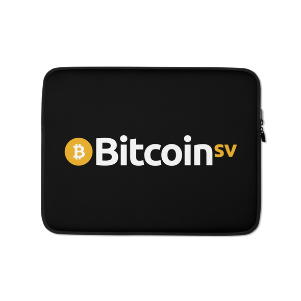 Bitcoin SV Laptop Sleeve 13 in  - zeroconfs