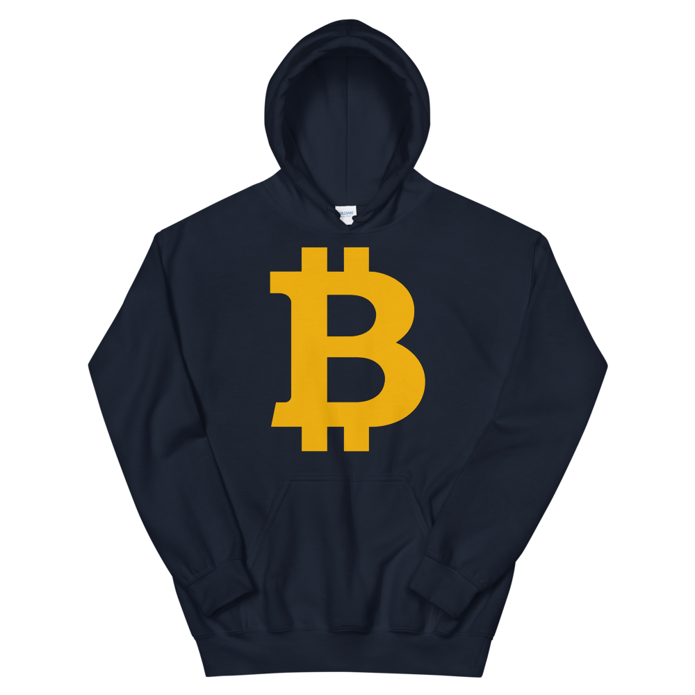 Bitcoin B Women's Hooded Sweatshirt Navy S - zeroconfs