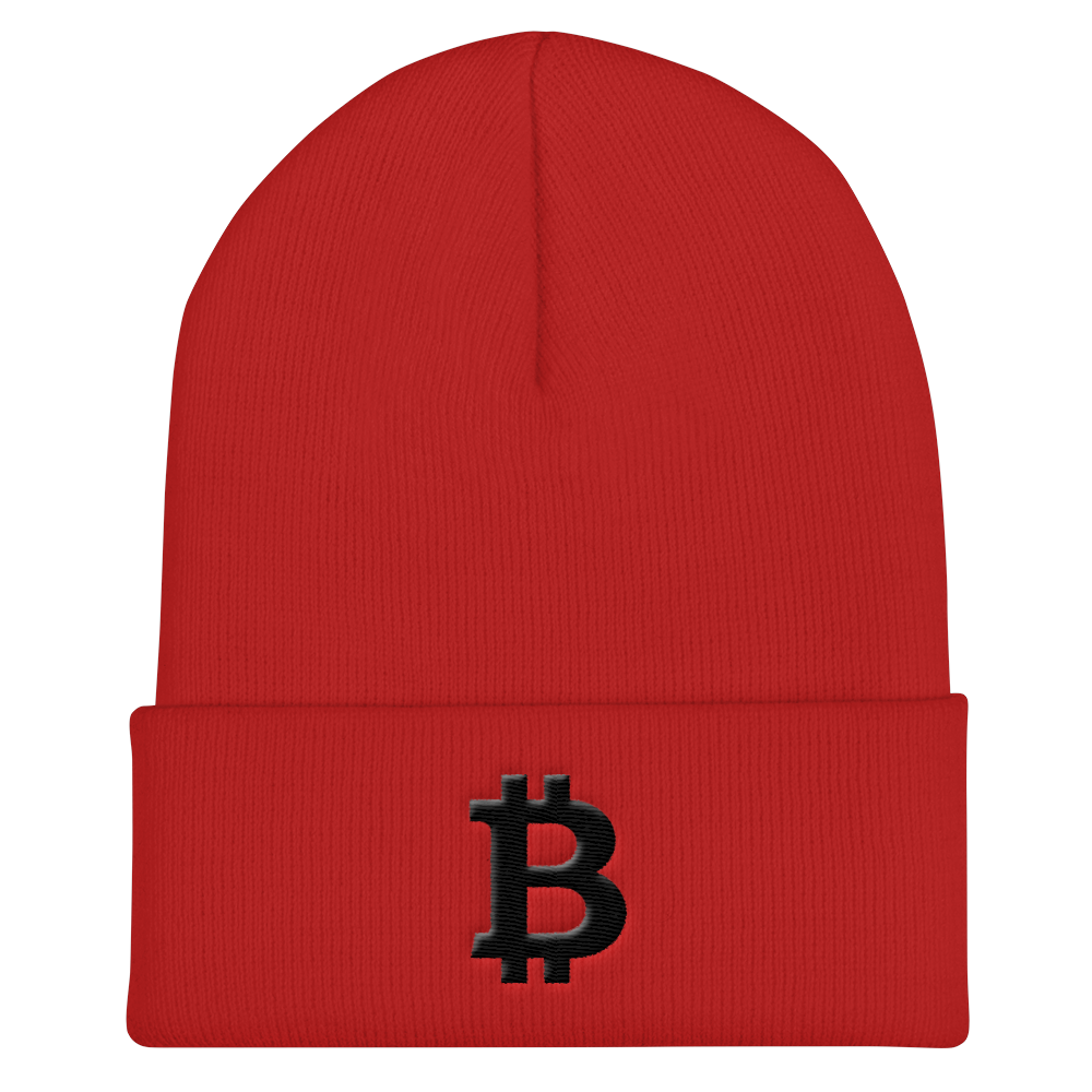 Bitcoin Blacknet SE Cuffed Beanie Red  - zeroconfs