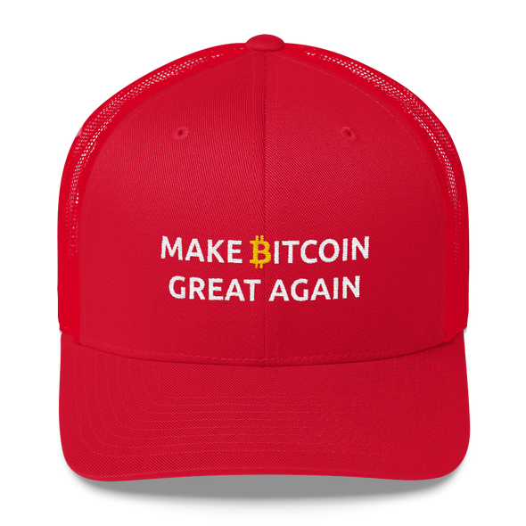 Make Bitcoin Great Again Trucker Cap Red  - zeroconfs
