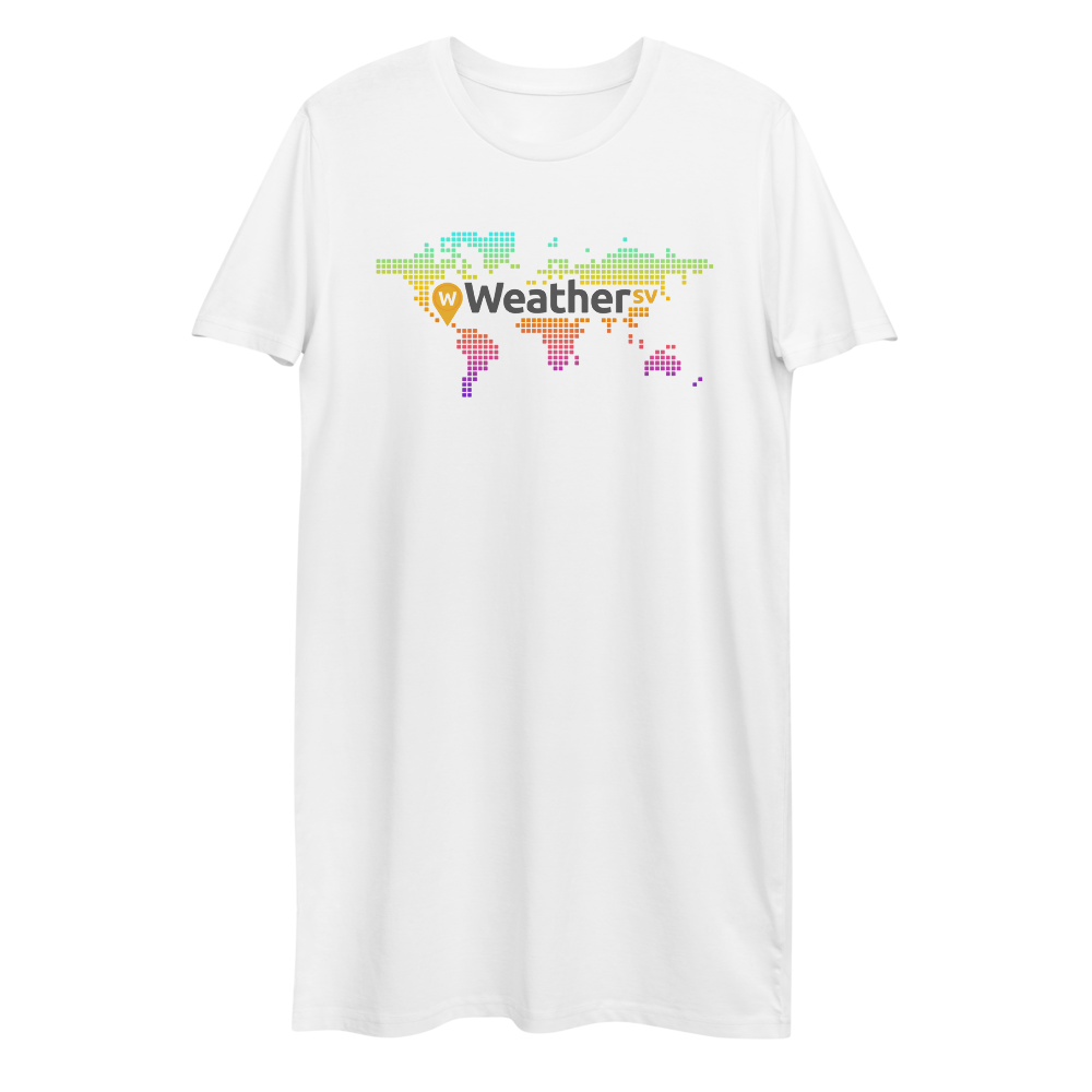 Weather SV Premium T-Shirt Dress White XS - zeroconfs
