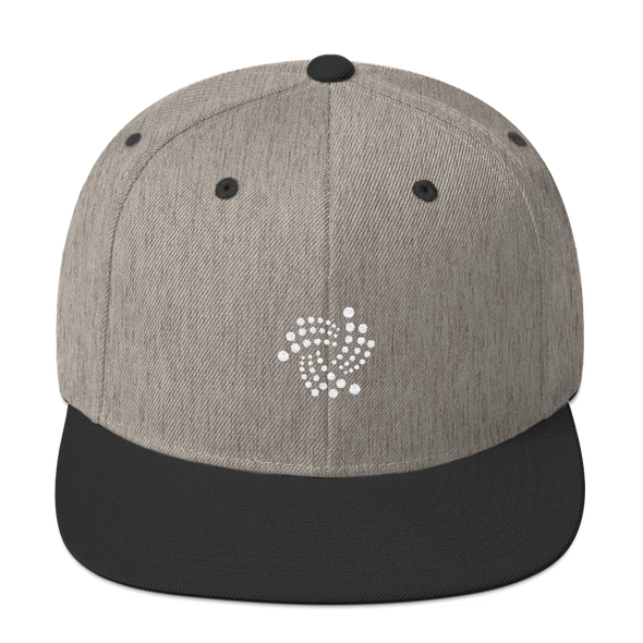 IOTA Snapback Hat Heather/Black  - zeroconfs