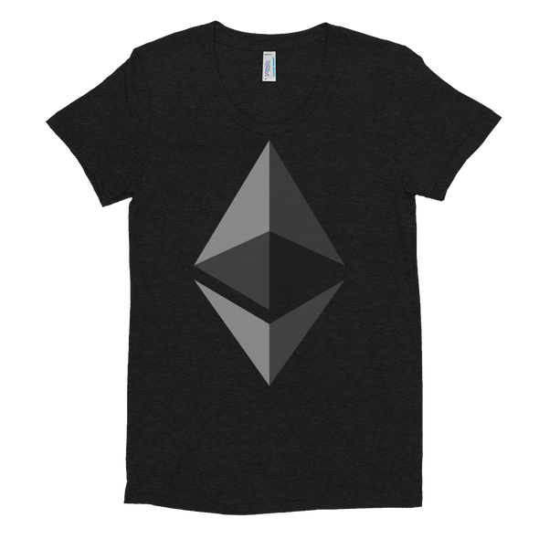 Ethereum Women's Crew Neck T-shirt Tri-Black S - zeroconfs
