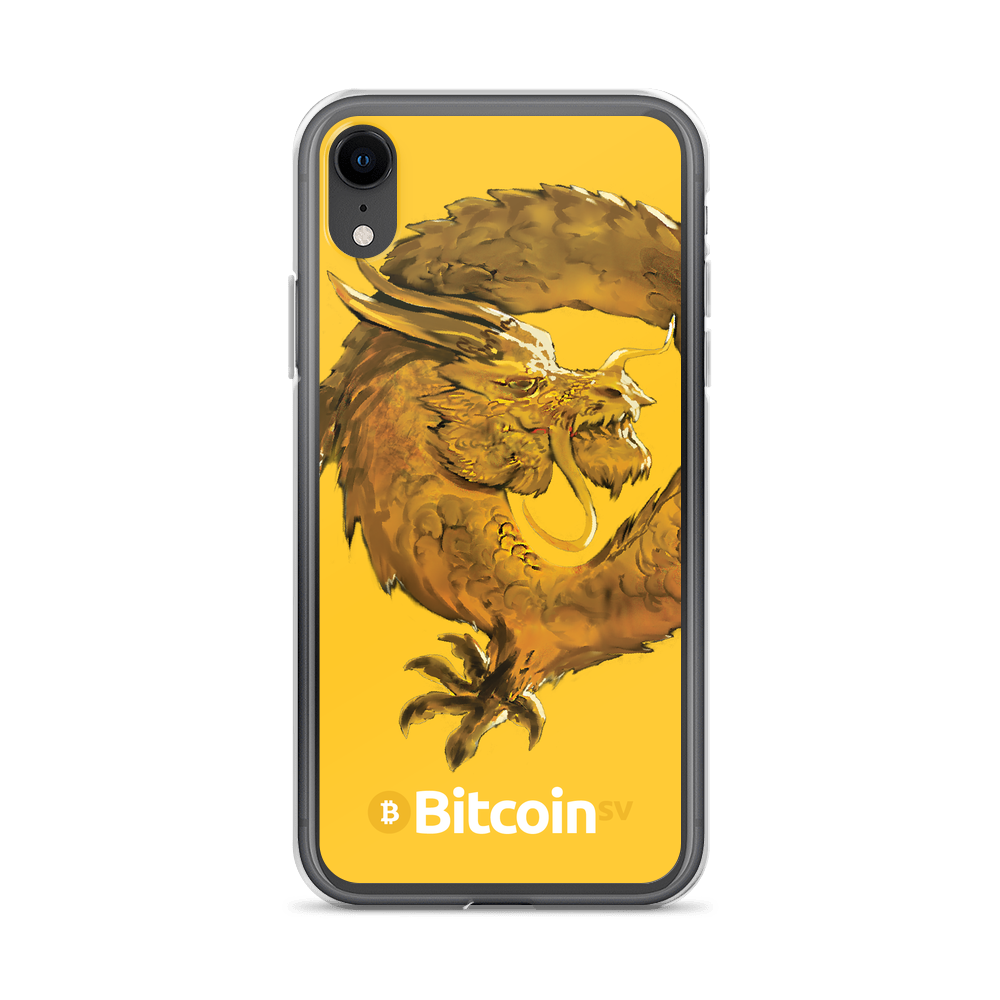 Bitcoin SV Woken Dragon iPhone Case Yellow iPhone XR  - zeroconfs