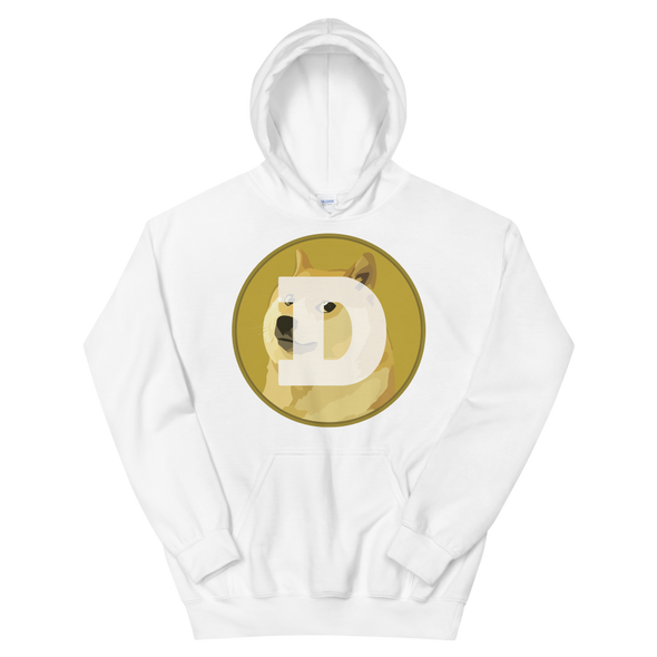 Dogecoin Women's Hooded Sweatshirt White S - zeroconfs
