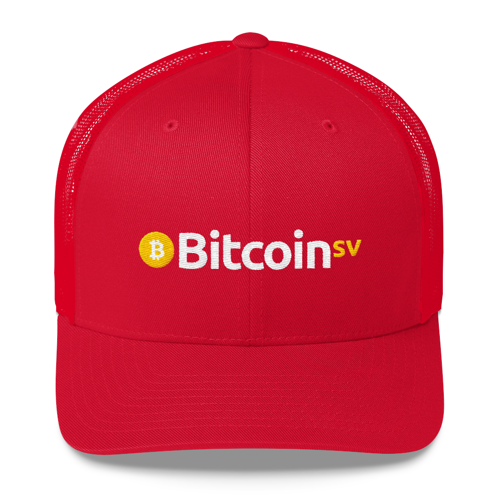 Bitcoin SV Trucker Cap Red  - zeroconfs