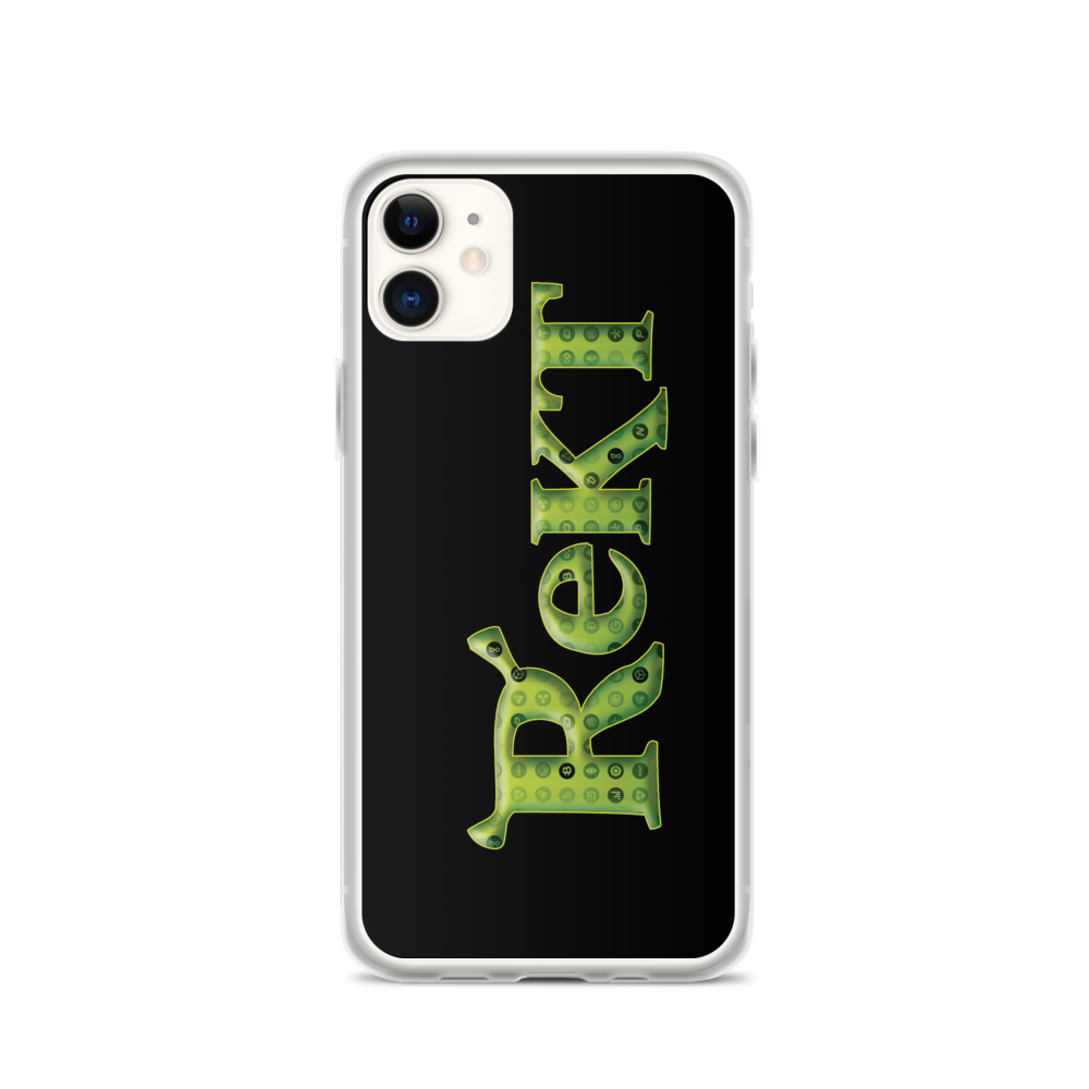 Rekt Crypto iPhone Case iPhone 11  - zeroconfs