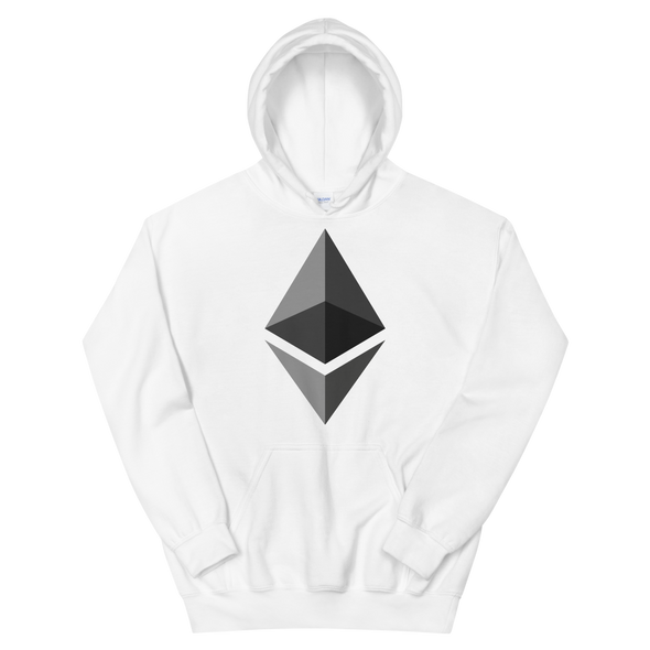 Ethereum Women's Hooded Sweatshirt White S - zeroconfs