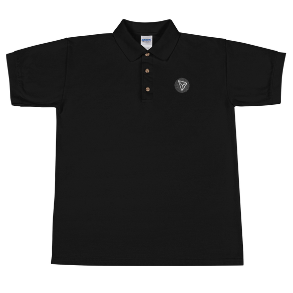 Tron Embroidered Polo Shirt Black S - zeroconfs