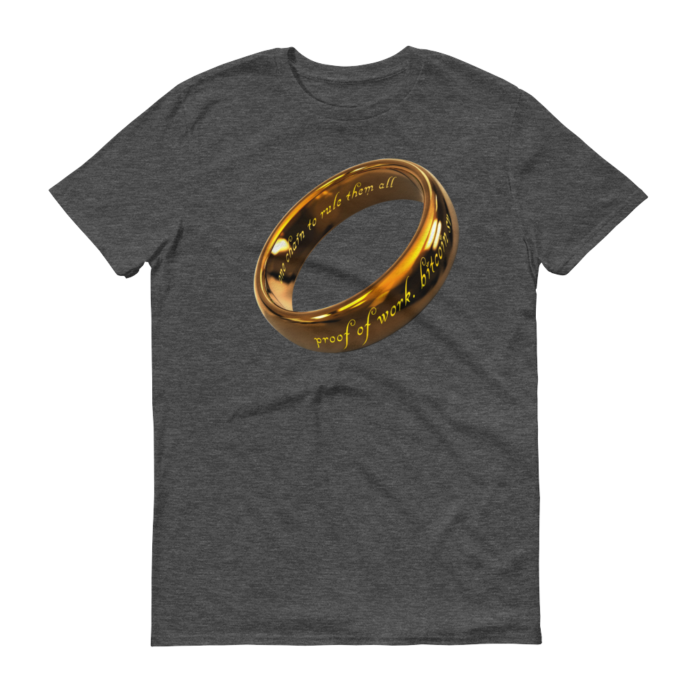 One Chain To Rule Them All Bitcoin SV Short-Sleeve T-Shirt Heather Dark Grey S - zeroconfs