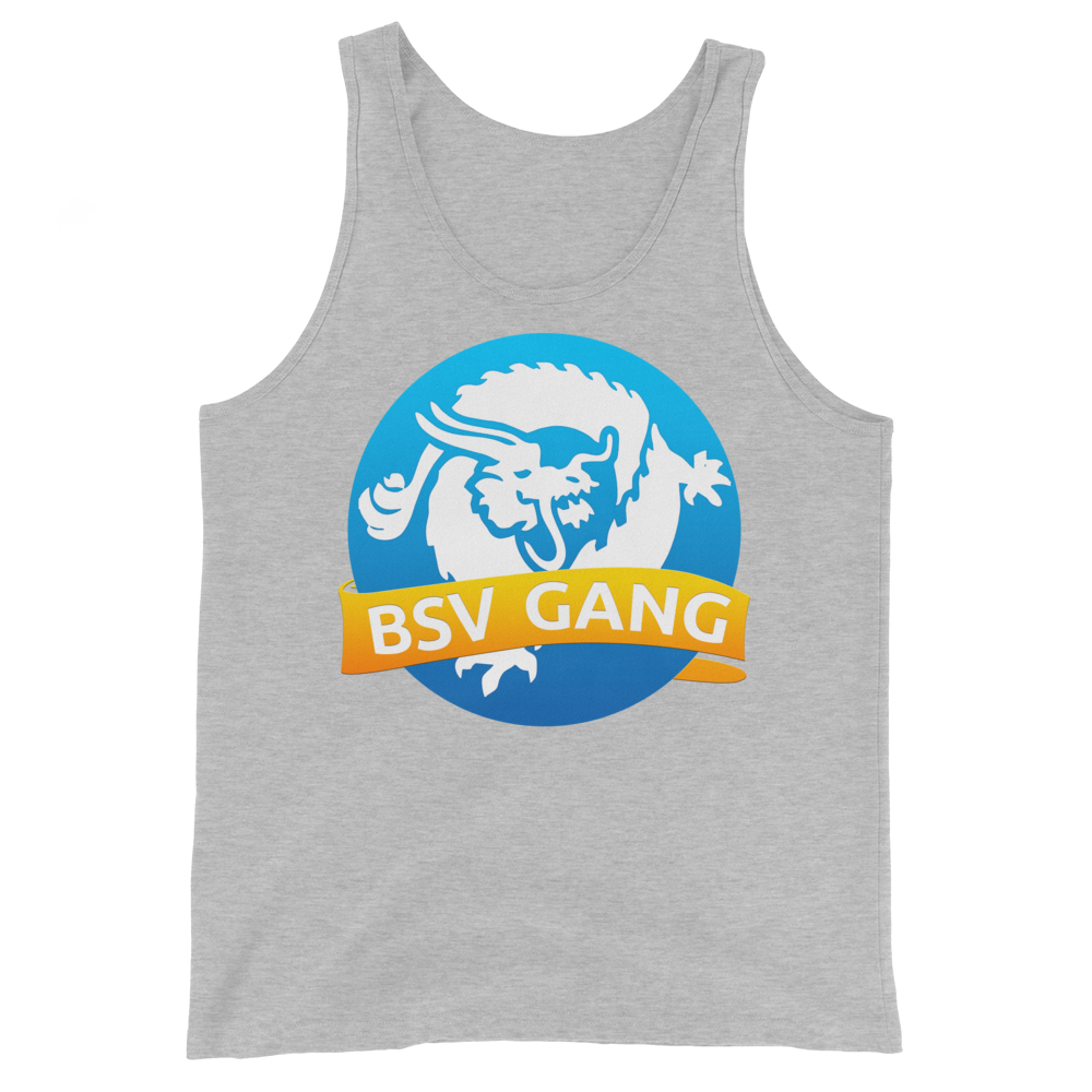 Bitcoin SV Gang Tank Top Athletic Heather XS - zeroconfs