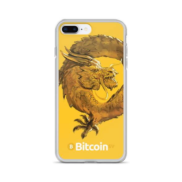 Bitcoin SV Woken Dragon iPhone Case Yellow iPhone 7 Plus/8 Plus  - zeroconfs