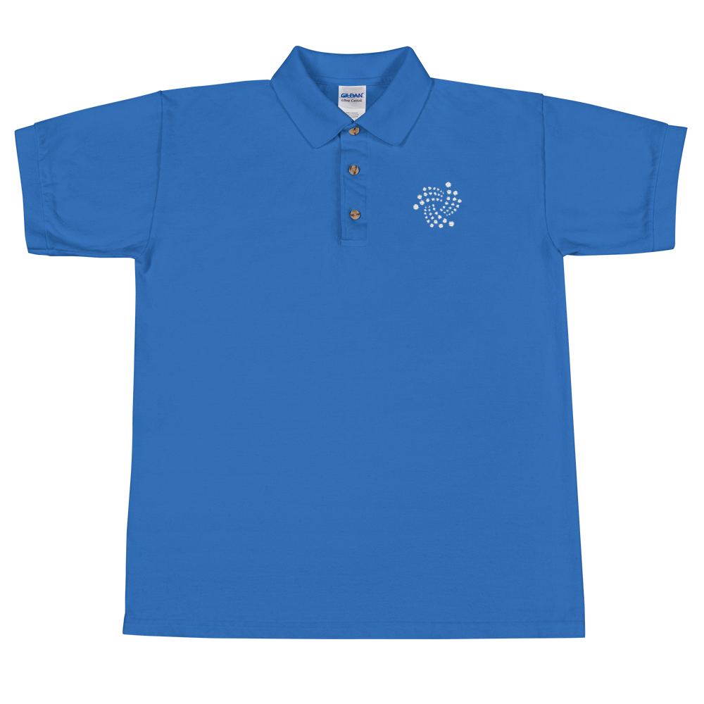IOTA Embroidered Polo Shirt Royal S - zeroconfs