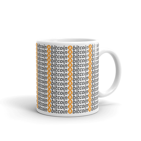 Bitcoin Pattern Coffee Mug 11oz  - zeroconfs